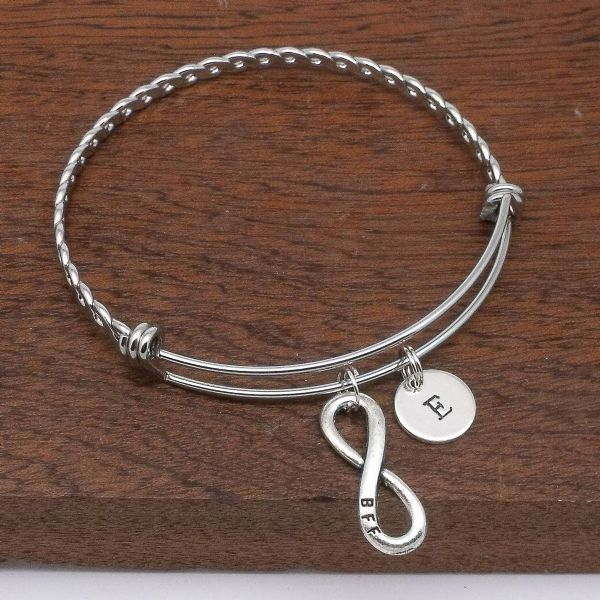 BBF best friends infinity bracelet gift personalised